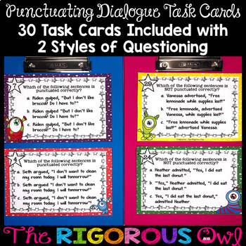 Punctuating Dialogue Task Cards