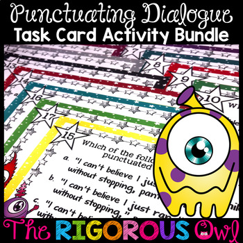 Quotation Marks Punctuating Dialogue Task Cards