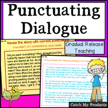 Writing Process : Punctuating Dialogue for the Promethean Board