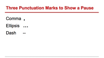 Punctuating Pauses