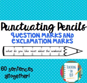 Punctuating Pencils 3- 60 x Question Marks & Exclamation