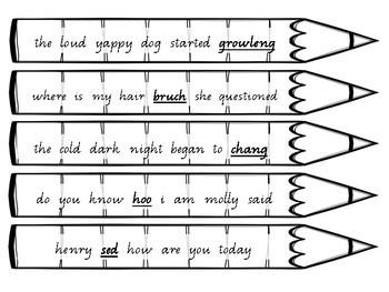 Punctuating Pencils 4- 60 x Spelling Mistakes & punctuation