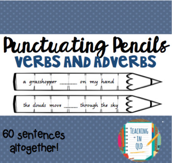 Punctuating Pencils 6- 60 x Verbs and Adverbs