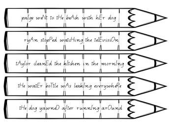 Punctuating Pencils 8- 60 x Fix The Capital Letters