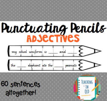 Punctuating Pencils 7- 60 x Adjectives