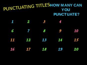 Punctuating Titles