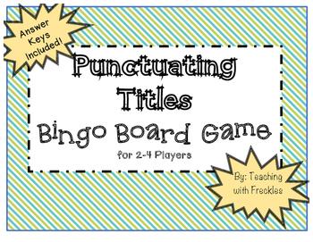 Punctuating Titles Bingo