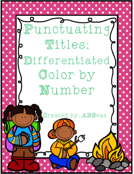 Punctuating Titles Differentiated Color by Number
