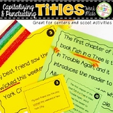 Punctuating Titles Work Mats for Centers and Scoot Activities