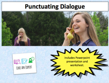 Punctuating dialogue - 1 hour lesson