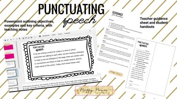Punctuating dialogue lesson packet