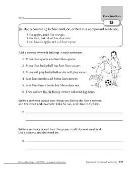 Punctuation 07: Commas: Compound Sentences