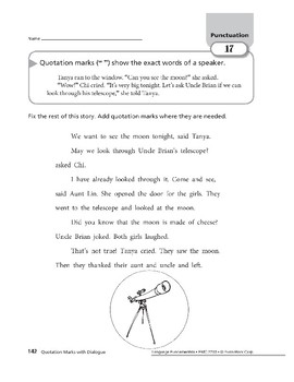 Punctuation 08: Quotation Marks with Dialogue