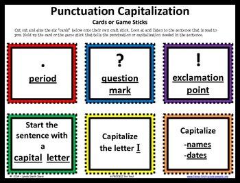 Sentence Punctuation - Capitalization