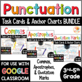 Punctuation Practice Activities | Comma, Apostrophe, & Quotation Mark Task Cards