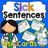 "Sentence Editing Task Cards ""Sick Sentences"""