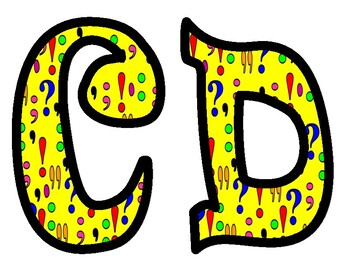 Punctuation Alphabet Bulletin Board Letters
