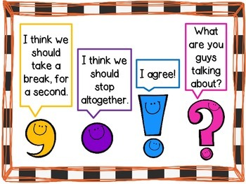 Punctuation Anchor Charts by The Laminating Co-Teacher | TpT