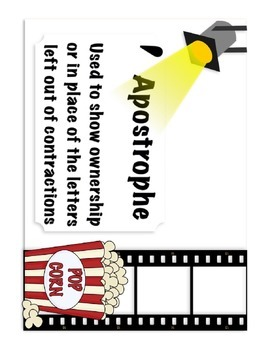 Punctuation Anchor Charts (Hollywood Themed)