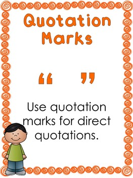 Punctuation Anchor Charts. Kindergarten, 1st Grade-5th Grade, Homeschool.