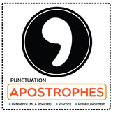 Punctuation: Apostrophe Reference Booklet (MLA), Practice, and Pretest/ Posttest