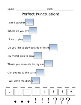 Punctuation Assessment