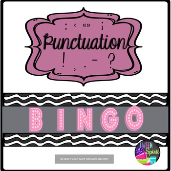 Punctuation BINGO! Punctuation FUN!
