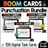 Punctuation BOOM CARDS™ Bundle | Commas, Apostrophes, Quotation Marks Task Cards