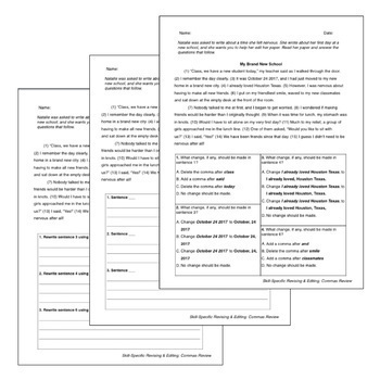 Punctuation BUNDLE: Skill-Specific Revising and Editing Passages