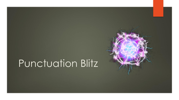 Punctuation Blitz! A Lightning Fast Way to Learn Punctuation
