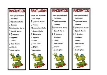 Punctuation Bookmark