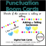 Punctuation Boom Cards - Asking or Telling - Distance Learning