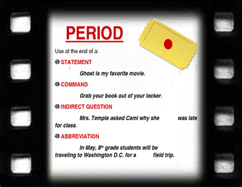 Punctuation Bulletin Board Set - Filmstrip Theme
