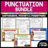 Punctuation Bundle- Worksheets, Posters, PowerPoint | Prin