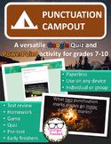 Punctuation Campout: A Versatile, Editable PowerPoint and Google Quiz Activity
