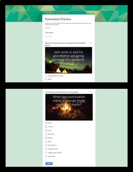 Punctuation Campout: A Versatile, Editable PowerPoint and Google Quiz Activity