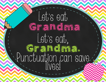 Punctuation Can Save Lives Poster