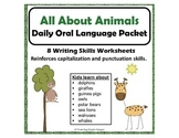 Punctuation Capitalization Animal DOL Packet Writing Worksheets
