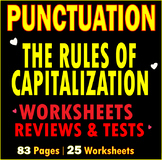 Punctuation | Capitalization | Capital Letters | Worksheets | Assessments | ELA