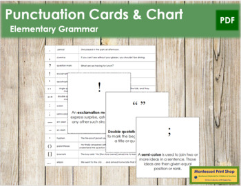 Punctuation Cards & Chart
