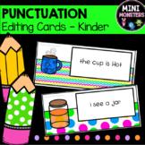 Punctuation Cards Kindergarten