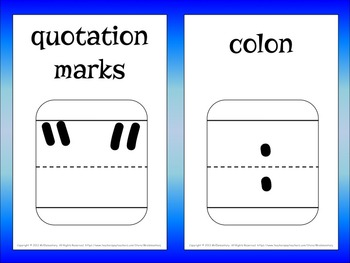 Punctuation Trading Cards and Word Wall
