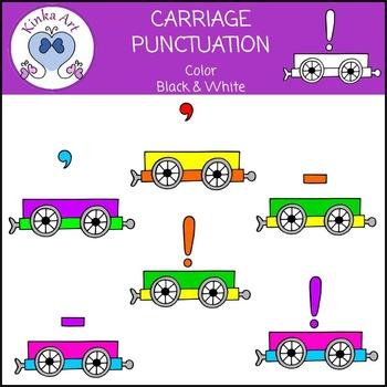 Punctuation Carriages Clip Art {Freebie}
