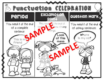 Punctuation Celebration! {Lesson Plan and Materials}