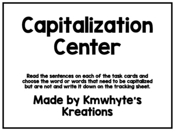 Capitalization Center (Printer Friendly)