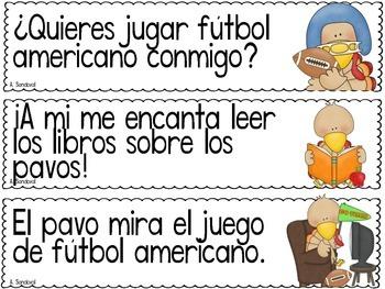 Punctuation Center for NOVEMBER  in Spanish