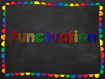 Punctuation Chalkboard Posters