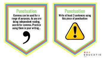 Punctuation Task Cards (VCOP)