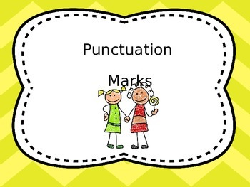 Punctuation Charts for First Grade