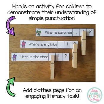 Punctuation Clip Cards